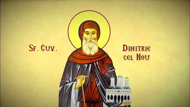 """""""Credința și smerenia aduc tămăduirea de boală și învierea din morți"""" – Părintele Patriarh Daniel, la Sărbătoarea Sfântului Cuvios Dimitrie cel Nou"""