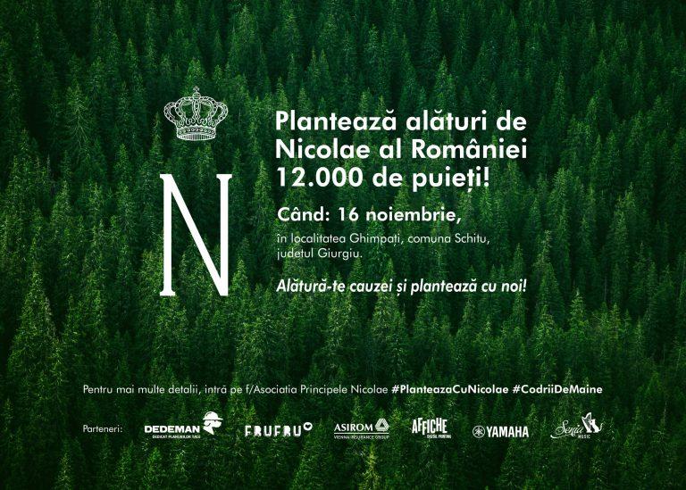 """""""Codrii de Mâine"""" este proiectul de împădurire al Asociația Principele Nicolae ce se va desfășura sâmbătă 16 noiembrie , în comuna Ghimpați – județul Giurgiu."""