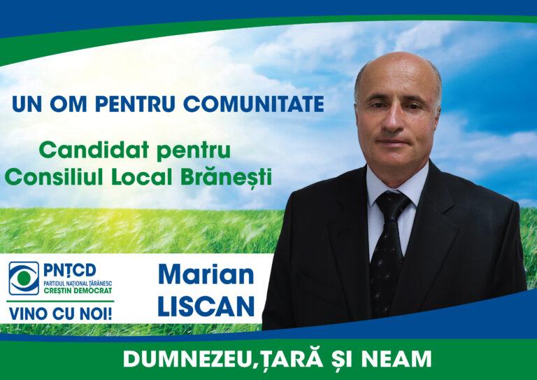 Lovitură pe scena politică ilfoveană! Omul de afaceri Marian Liscan este candidatul PNȚCD pentru Consiliul Local Brănești